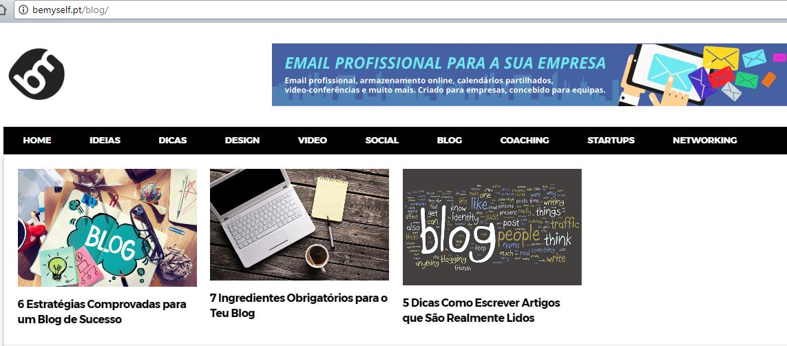 """Para te tornares um Blogger profissional consulta a nossa categoria """"Blog""""."""